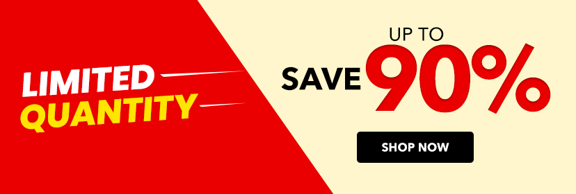 Save up to 90%