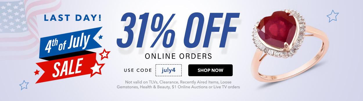 31% off Online Orders