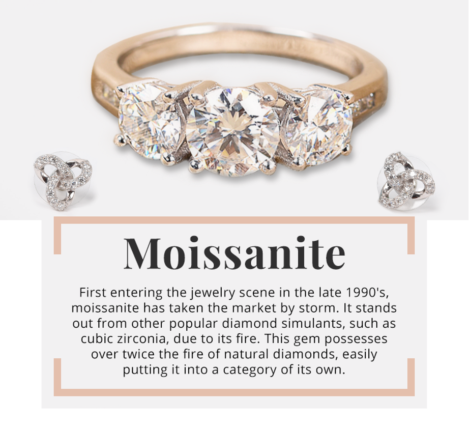 Moissanite jewelry at Shop LC